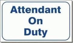 attendant on duty