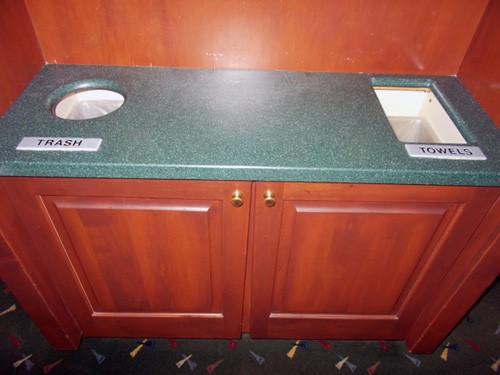 counter top drop holes